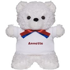 Annette Santa Fur Teddy Bear