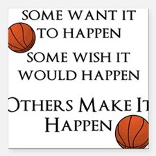"Make It Happen Square Car Magnet 3"" x 3"""