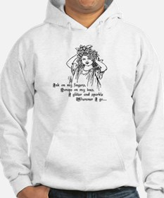 Victorian Girl Ink on Fingers Hoodie
