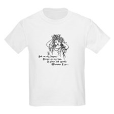 Victorian Girl Ink on Fingers Kids T-Shirt