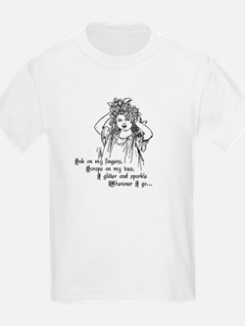 Victorian Girl Ink on Fingers Kids T-Shirt