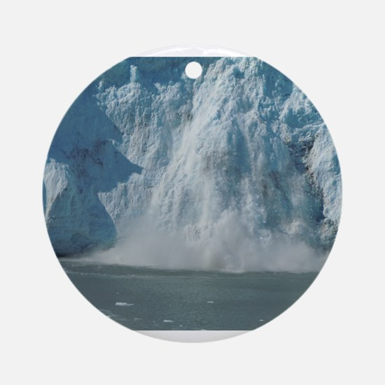 Alaskan Ice Fall Ornament (Round)