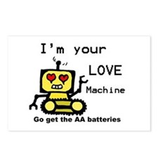 Robot Love Postcards (Package of 8)