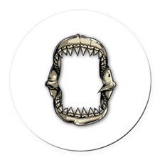 Shark Teeth Round Car Magnet