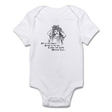 Victorian Girl Ink On Fingers Infant Bodysuit