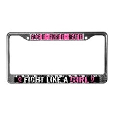 Licensed Fight Like a Girl 31. License Plate Frame