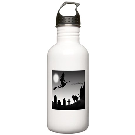 HALLOWEEN WITCH SILHOUETTE Water Bottle
