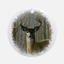 WHITE TAILED BUCK Ornament (Round)