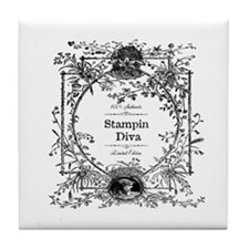 100% Authentic Stampin' Diva Tile Coaster