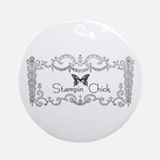 Stampin' Chick Ornament (Round)