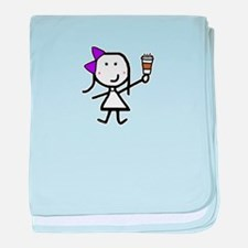 Purple Girl & Coffee baby blanket