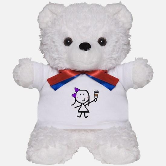 Purple Girl & Coffee Teddy Bear