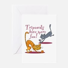 20 Tripawd Cats Have Fun Greeting Cards Greeting C