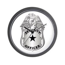 Gov - Security Officer Badge Wall Clock