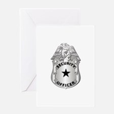 Gov - Security Officer Badge Greeting Card