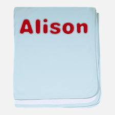 Alison Santa Fur baby blanket