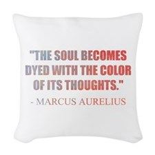 The Soul Becomes Dyed | Woven Throw Pillow