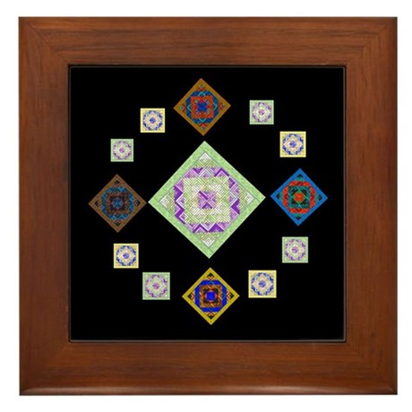 1881 quilting bee Framed Tile
