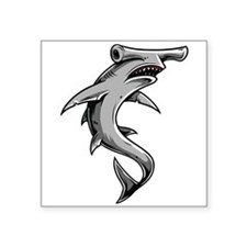 "Hammerhead Shark Square Sticker 3"" x 3"""