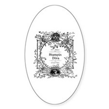 100% Authentic Stampin Diva Oval Decal