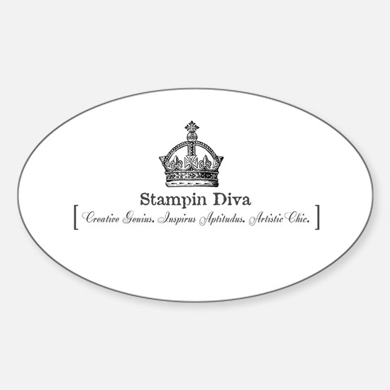 Royal Stampin' Diva Oval Decal