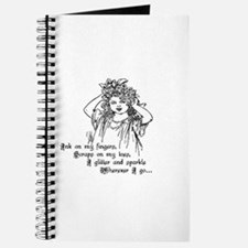 Victorian Girl Ink On Fingers Journal