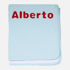 Alberto Santa Fur baby blanket