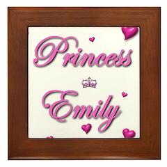 Princess Emily Framed Tile