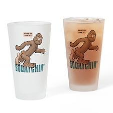 Squatchin' Drinking Glass