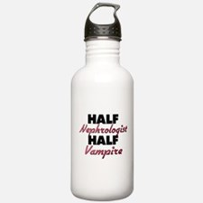 Half Nephrologist Half Vampire Water Bottle