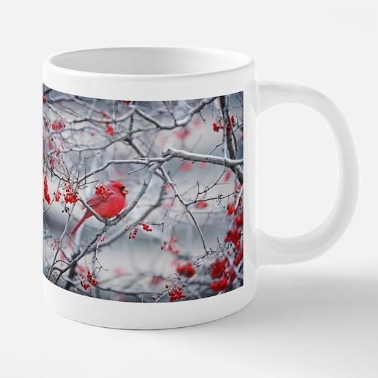 Red Bird & Berries Mugs