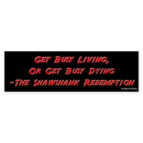 Shawshank Redemption - Living Bumper Sticker