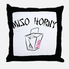 Miso Horny Throw Pillow