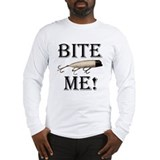 Bite me fishing Long Sleeve T-shirts