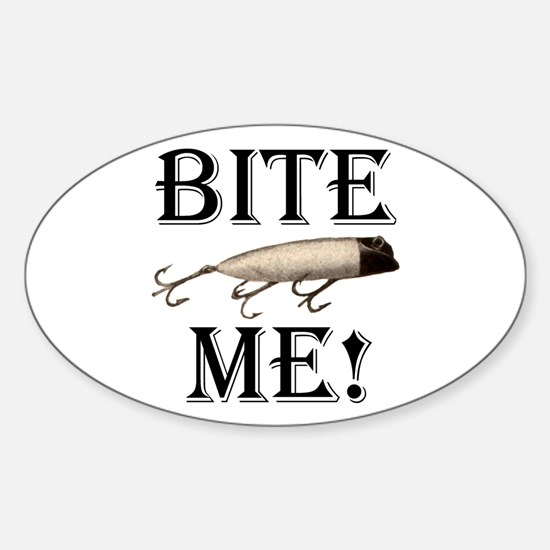 BITE ME! Oval Decal