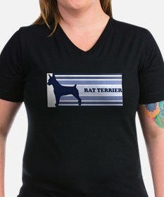 Rat Terrier (retro-blue) T-Shirt