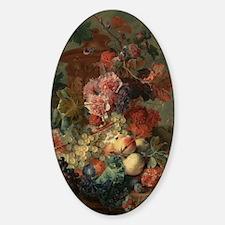 Fruit Piece by Jan van Huysum 1722 Sticker (Oval)