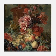 Fruit Piece by Jan van Huysum 1722 Tile Coaster