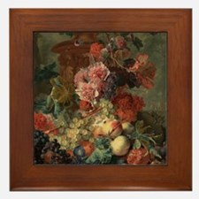 Fruit Piece by Jan van Huysum 1722 Framed Tile