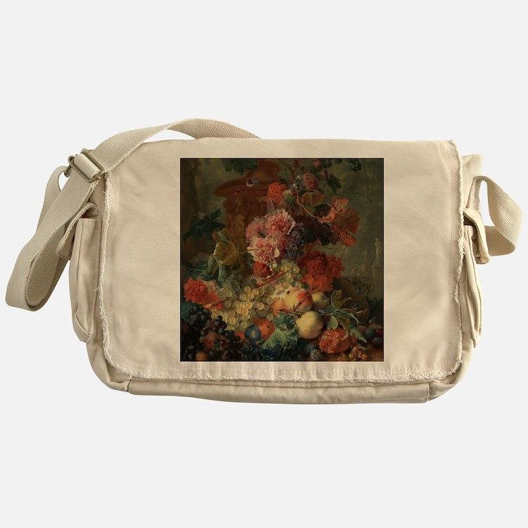 Fruit Piece by Jan van Huysum 1722 Messenger Bag