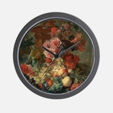 Fruit Piece by Jan van Huysum 1722 Wall Clock
