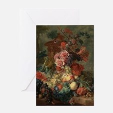 Fruit Piece by Jan van Huysum 1722 Greeting Card