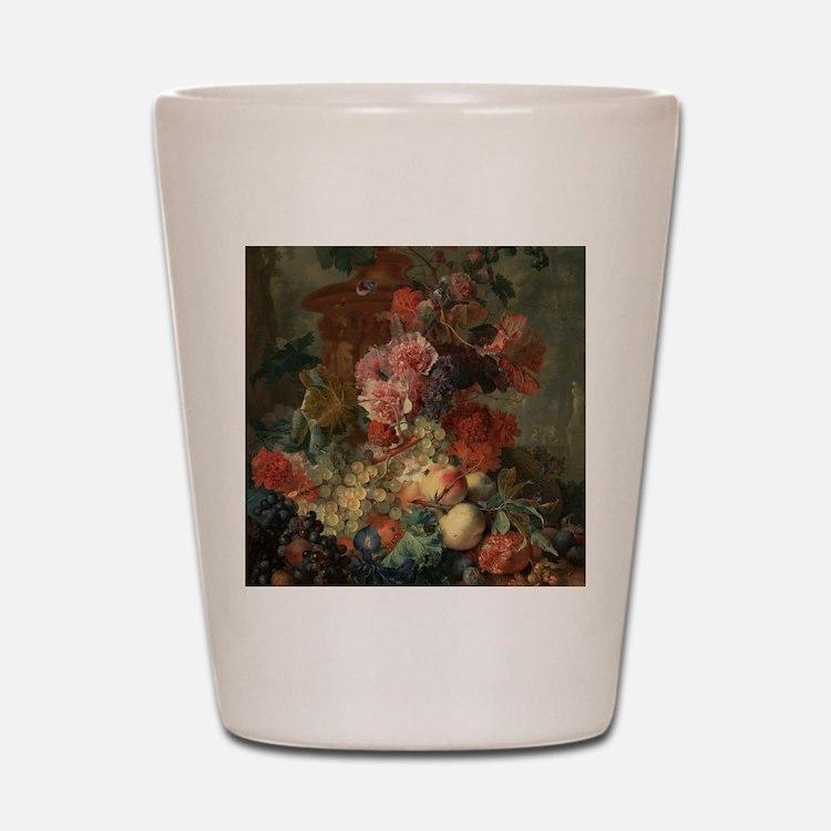 Fruit Piece by Jan van Huysum 1722 Shot Glass