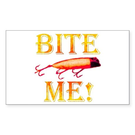 Bite Me! Rectangle Sticker