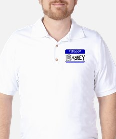 Hello, my name is Abbey Golf Shirt