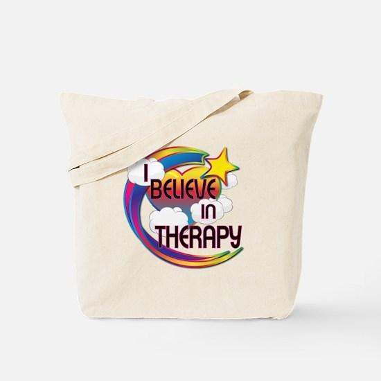 I Believe In Therapy Cute Believer Design Tote Bag