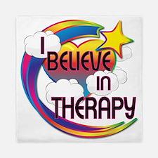 I Believe In Therapy Cute Believer Design Queen Du