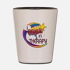 I Believe In Therapy Cute Believer Design Shot Gla