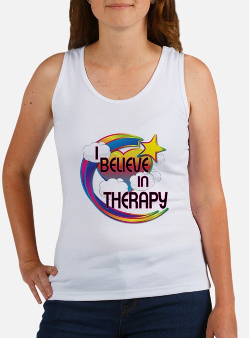 I Believe In Therapy Cute Believer Design Women's