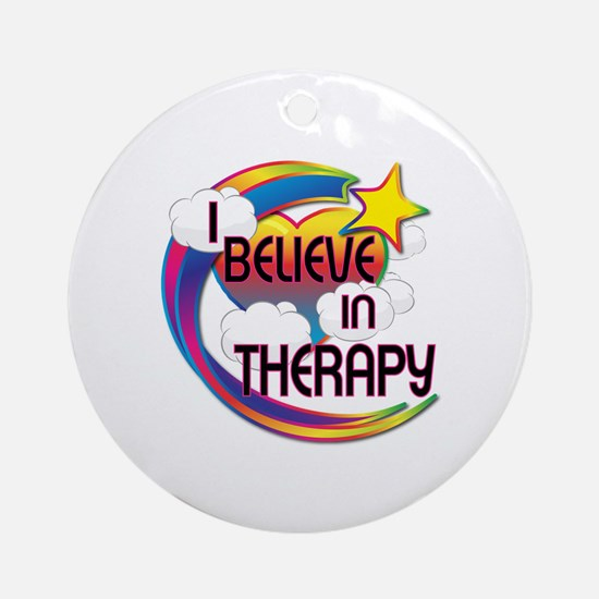I Believe In Therapy Cute Believer Design Ornament